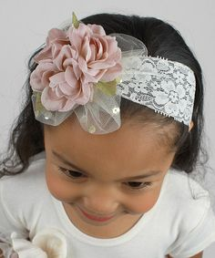 Another great find on #zulily! Blush & Ivory Floral Lace Headband by Tesa Babe #zulilyfinds