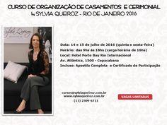 Curso Sylvia Queiroz RJ - 14 e 15 de Julho 2016 - Hotel Porto Bay Rio Internacional