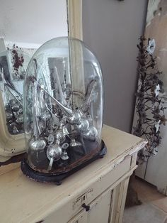christmas tree toppers, mercuri glass, glass domes, mercury glass, christma tree, green eyes, silver mercuri, glass christma, christmas trees