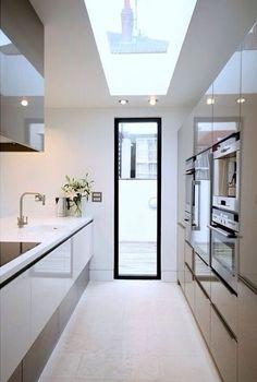 Sleek, fresh, clean, bright kitchen