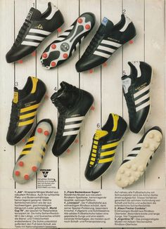 Adidas Soccer Shoes, Adidas Cleats, Soccer Boots, Adidas Football, Soccer Cleats, Classic Football Shirts, Vintage Football Shirts, Retro Football, Football Kits