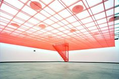 "Artist Do Ho Suh, ""Staircase V"", fabric, Lehmann Maupin Gallery"