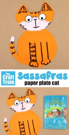paper plate cat craft based on the Sassafras character from the Zoey and Sassafras series of books by Asia Citro #zoeyandsassafras #kidscrafts #paperplatecrafts #catcraft #animalcrafts #thecrafttrain Paper Plate Crafts For Kids, Animal Crafts For Kids, Easy Crafts For Kids, Craft Activities For Kids, Paper Crafts, Craft Ideas, Cat Crafts, Book Crafts, Manualidades