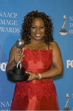 Regina Taylor accepting the NAACP Award