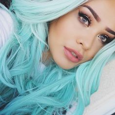 Cool pastel blue hair.. Definitely a must-try!