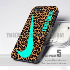 Nike Just Do It Leopard Pattern 5 Design for iPhone 5 case
