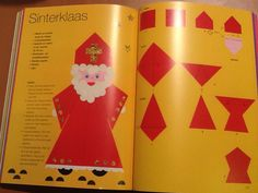 Sinterklaas vouwen (Thea van Mierlo) Xmas Crafts, Crafts For Kids, Advent, Crochet Hedgehog, Kindergarten, Old Toys, Origami, Free Pattern, Crochet Patterns