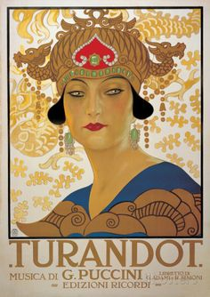 Turandot (G. Puccini) - Vintage Style Italian Opera Poster Photographie sur AllPosters.fr