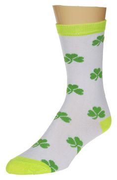 Authentic Sox Custom Shamrock Lucky Socks Ladies Irish Four Leaf Clover Socks