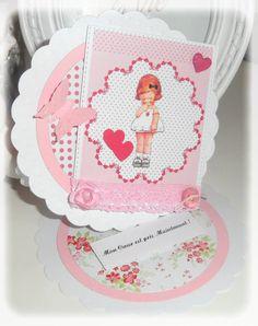 Carte St Valentin Fillette Shabby : Cartes par les-extravagances-de-bella