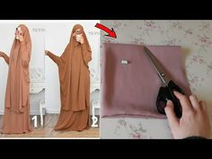 Sewing Pants, Sewing Clothes, Dress Sewing Patterns, Clothing Patterns, Muslim Book, Easy Crafts For Teens, Abaya Pattern, Velvet Dress Designs, Muslim Women Fashion
