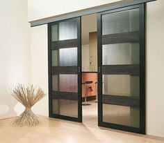 sliding french doors indoor black - Google Search
