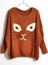 Meow! This kitty sweater is just purrrrrrfect!