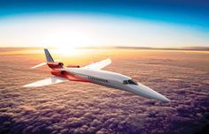 "FINALLY, A SUPERSONIC AIRLINER TO REPLACE THE CONCORDE. Apparently, it's ""faster than a speeding bullet""."