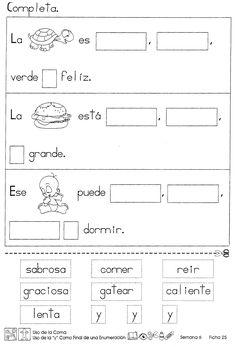 Uso de la coma uso de la y como final de enumeración