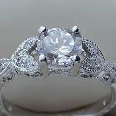 Antique Engagement Ring Setting With Hollow Band 59