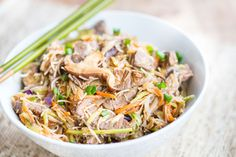 Korean Steak and Vegetable Noodle Bowls are a quick, healthy, and delicious dinner!