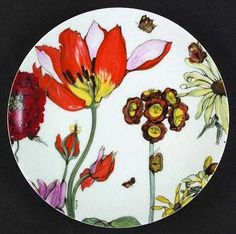 Denby plate,  Jardin de Fleurs.