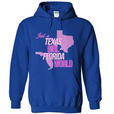 (Tshirt Suggest Deals) Just a Texas Girl in a Florida World T-Shirt at Top Sale Tshirt Hoodies, Tee Shirts
