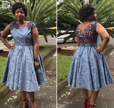 Top lace shweshwe dresses for a walk with their companions & work