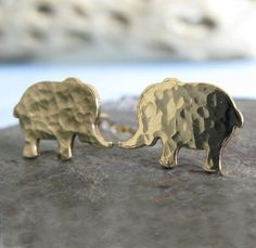- Cute sterling silver, 14k gold-filled or solid 14k yellow gold elephant post…