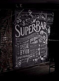 Chalkboard Typography, Chalk Lettering, Chalkboard Designs, Chalkboard Paint, Lettering Design, Sign Writing, Chalk Writing, Chalk Wall, Chalk Board