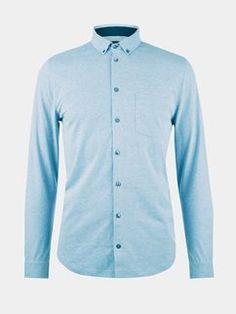Blue Long Sleeve Jersey Shirt