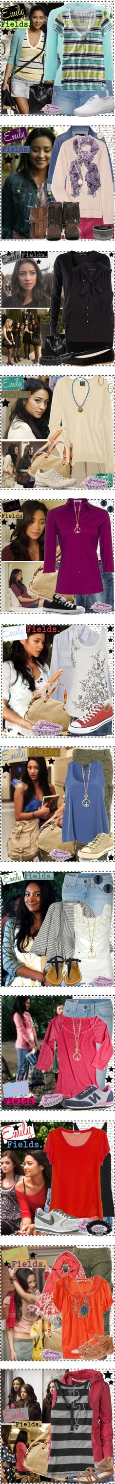 """""""Emily Fields [Pretty Little Liars]."""" by silver-screen-style ❤ liked on Polyvore"""