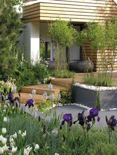 Terraces - complementing the garden - Garten - Terrasse Herb Garden Design, Garden Deco, Modern Garden Design, Vegetable Garden Design, Contemporary Garden, Patio Design, Landscape Design, Patio Plants, Garden Spaces