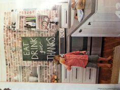 Eat drink give thanks chalkboard in kitchen // BHG July 2013