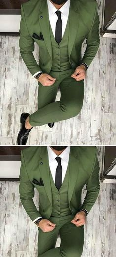 green men suit