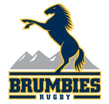 The Brumbies are an Australian professional rugby union football team. The Brumbies logo features a prancing horse with mountains on the background. Matt Toomua, Rugby Union Teams, Rugby Sport, Old Symbols, Super Rugby, One Logo, Highlanders, Rugby Players, Shark Tank