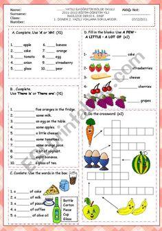 grade term second exam - ESL worksheet by Pre K Math Worksheets, Teacher Sites, English Exam, Cute Posts, Reading Lessons, Teaching English, Grade 1, Esl, Teaching Resources