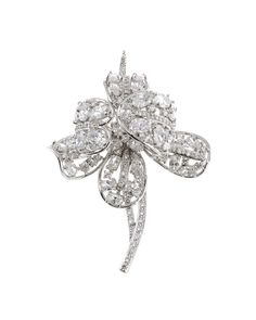 Floral Brooch - Brooches CZ by Kenneth Jay Lane #jewelry #brooch