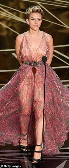Mic drop! The star's legs stole attention in her sheer dress...