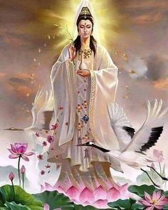 Buddha Quan Yin (also spelled Kwan Yin, Kuanyin, Guanyin Sacred Feminine, Buddha Art, Goddess Art, Chinese Mythology, Guanyin, Gods And Goddesses, Ganesha, Chinese Art, Madonna