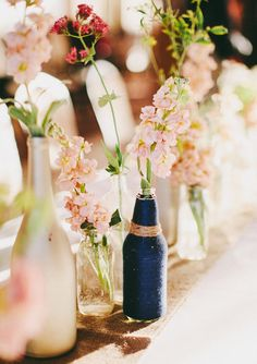 Navy and pink reception decor | photo Ciara Richardson | 100 Layer Cake