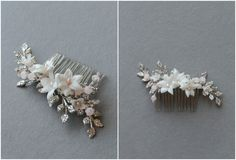 Silver-and-blush-pink-floral-hair-comb