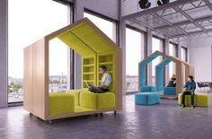 mobile meeting room | ... be slid back together to form gathering or meeting spaces on demand