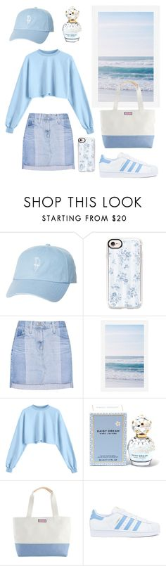 """Out of the blue"" by patience-zacheus ❤ liked on Polyvore featuring Rip Curl, Casetify, AG Adriano Goldschmied, Pottery Barn, Marc Jacobs and adidas"