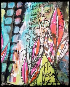 Howdy Bloggers, Lisa here with a quick Friday mixed media update. I love, when I'm creating, to add different layers to art journal...