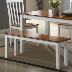 Boraam Bloomington Wooden Kitchen Table with Bench