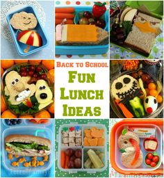 Back to School Fun Lunch Ideas for Kids Kids Lunch For School, Healthy School Lunches, School Snacks, School Fun, Toddler Meals, Kids Meals, Lunchbox Kids, Cool Lunch Boxes, Boite A Lunch