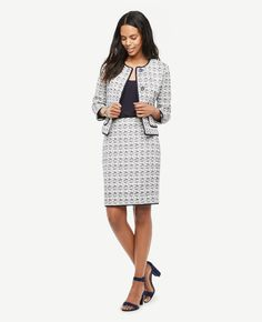 Thumbnail Image of Color Swatch 9000 Image of Textured Tweed Pencil Skirt