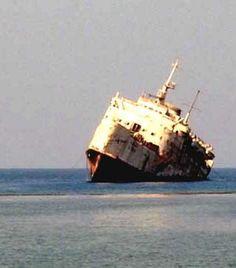 abandoned ferry Al Fahad