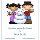 Monthly word problem set themed for january winter these problems