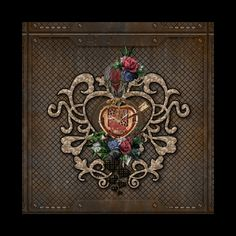 Check out this awesome 'Wonderful+steampunk+hearts%2C+clocks%2C+gears+and+flowers' design on @TeePublic! Steampunk Heart, Flower Designs, Clocks, Gears, Frame, Awesome, Flowers, Home Decor, Flower Drawings