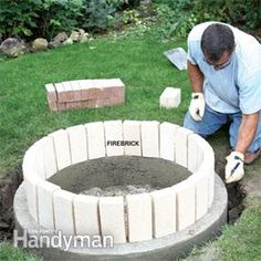 Building a Fire Pit | The Family Handyman Firebrick, refractory cement for safe firepit
