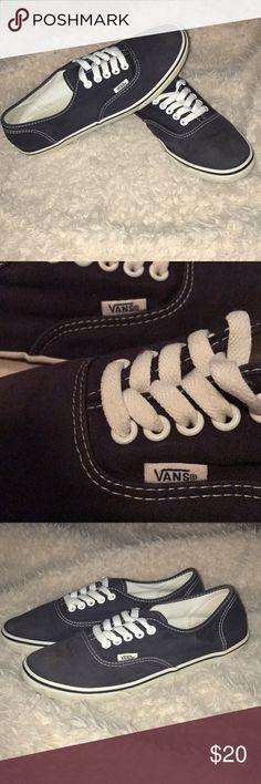 Navy blue Vans Navy blue Vans women's size 9 (men's size 7.5) Vans Shoes Sneakers