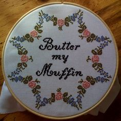 Butter My Muffin Cross Stitch by beefranck, via Flickr